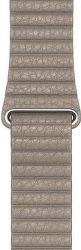Apple Watch 44 mm kožený řemínek Loop Strap L, kamenně šedá