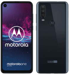 Motorola One Action modrý