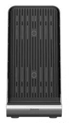 Baseus Vertikální bezdrátová Qi nabíječka, černá