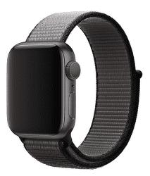 Apple Watch 40 mm sportovní provlékací řemínek, černošedý