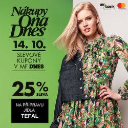 Nákupy Ona Dnes - sleva 25 % na všechny výrobky Tefal