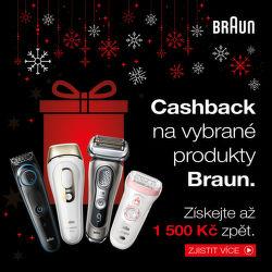 Cashback až 1 500 Kč na vybrané produkty Braun