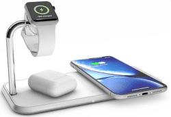 Zens Aluminium duální bezdrátová nabíječka + Watch 10W, bílá