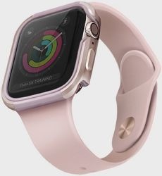 UNIQ Valencia pouzdro pro Apple Watch 44 mm, růžová
