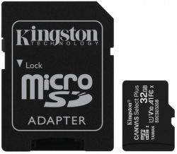 Kingston microSDHC Canvas Select Plus 32 GB UHS-I U1 + SD adaptér