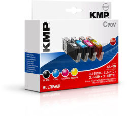 KMP C90V komp. recykl. náplň pro Canon CLI-551BK / C
