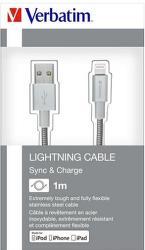 Verbatim datový kabel Lightning 1 m, stříbrná