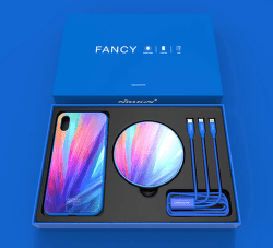 Nillkin Fancy set pro Apple iPhone Xs Max, modrá
