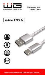 Winner datový kabel USB - USB-C 1m, bílá