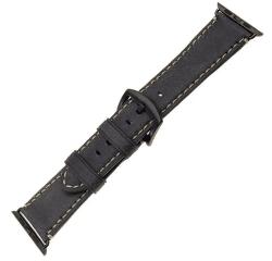 Fixed Berkeley řemínek pro Apple Watch 44/42 mm, uhlově černý s černou přezkou