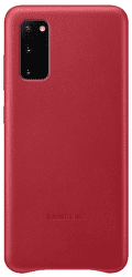 Samsung Leather Cover pro Samsung Galaxy S20, červená