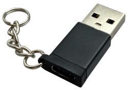 Mobilnet redukce USB-C-USB-A, černá