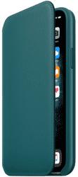 Apple Leather Folio knížkové pouzdro pro iPhone 11 Pro, tyrkysová