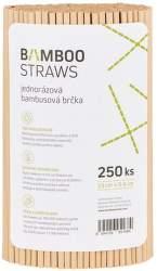 Bamboo Straws BS0623 bambusová brčka 250ks