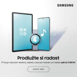 Cashback až 3 000 Kč na Samsung Galaxy