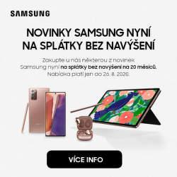 Splátky na 20 měsíců bez navýšení na novinky Samsung