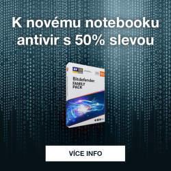 K novému notebooku antivir s 50% slevou