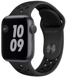 Apple Watch Nike Series 6 40 mm vesmírné šedý hliník s černým sportovním řemínkem