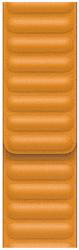 Apple Watch 44 mm kožený řemínek měsíčkově oranžový S/M