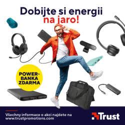 Powerbanka jako dárek k produktům Trust