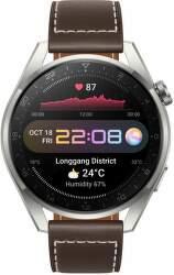 Huawei Watch 3 Pro hnědé s koženým řemínkem