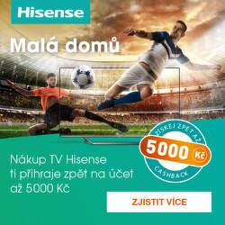 Cashback až 5 000 Kč na vybrané televize Hisense