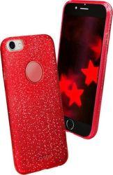 SBS Sparky Glitter pouzdro pro iPhone 8/7/6S, červená