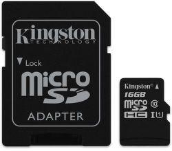Kingston microSDHC Canvas Select 16 GB UHS-I + SD adaptér