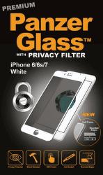 PanzerGlass Premium Privacy tvrzené sklo pro iPhone 8/7/6/6s, bílé