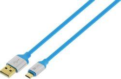 4-OK microUSB kabel 1,5m, modrá