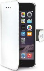 Celly Wally knížkové pouzdro pro iPhone 6/6S, bílá