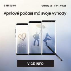 Cashback 4 000 Kč na Galaxy S8, S8+ a Note 8