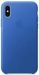 Apple kožený kryt pro iPhone X, elektro modrý