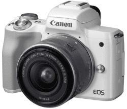 Canon EOS M50 bílá + EF-M15-45IS STM