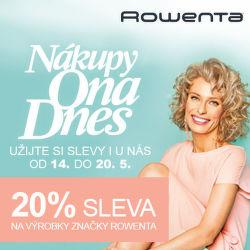Nákupy Ona Dnes - sleva 20 % na vybrané výrobky Rowenta