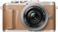 Olympus E-PL9 hnědá 14-42mm 1:3.5-5.6 EZ Pancake