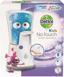 Dettol Kids bezdotykový dávkovač s mýdlem Dobrodruh (250ml)