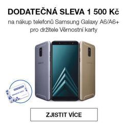 Sleva 1 500 Kč na Samsung Galaxy A6 nebo A6+ pro Věrnostní zákazníky