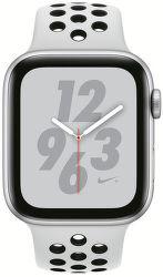 Apple Watch Series 4 Nike+ 44mm stříbrný hliník/černý/platinový sportovní řemínek Nike