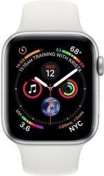 Apple Watch Series 4 40 mm stříbrný hliník/bílý sportovní řemínek