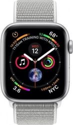 Apple Watch Series 4 40mm stříbrný hliník/mušlový bílý provlékací sportovní řemínek