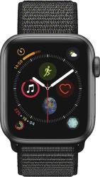 Apple Watch Series 4 40mm vesmírně šedý hliník/černý sportovní provlékací řemínek