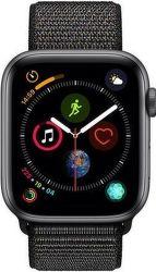 Apple Watch Series 4 44mm vesmírně šedý hliník/černý sportovní provlékací řemínek