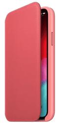 Apple kožené pouzdro Folio pro Apple iPhone XS, pivoňkově růžová