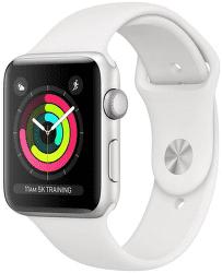 Apple Watch Series 3 42mm (stříbrný hliník/bílý sportovní řemínek)