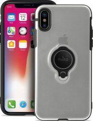 Puro pouzdro s magnetickým kroužkem pro iPhone X/Xs, transparentní