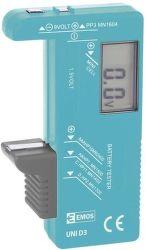 Emos UNI D3 (N0322) tester baterií
