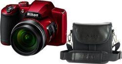 Nikon Coolpix B600 červený + taška Nikon CS-P08 vystavený kus splnou zárukou