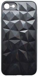 Mobilnet silikonové pouzdro Geometric pro Apple iPhone 7/8, černá