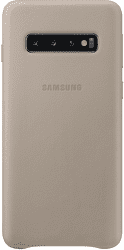 Samsung Leather Cover pro Samsung Galaxy S10, šedá